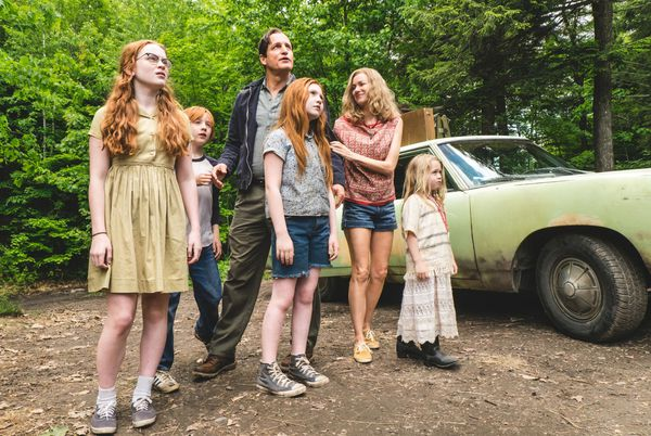 Deauville bound: (from left) Sadie Sink, Charlie Shotwell, Woody Harrelson, Ella Anderson, Naomi Watts and Eden Grace Redfield in The Glass Castle, directed by Destin Daniel Cretton.
